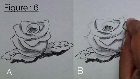 how to draw rose with pencil